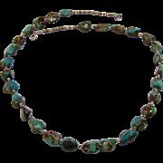 Exceptionally Beautiful Native American Necklace by Navajo Nieto, Santo Domingo