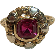 Vintage Treasure Ruby Ring in 10K Yellow Gold