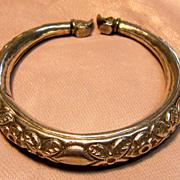 Vintage Victorian Elephant Cuff Bracelet