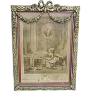 Vintage French Trumeau Style Picture Frame