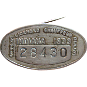 Vintage 1933 Indiana Chauffeur