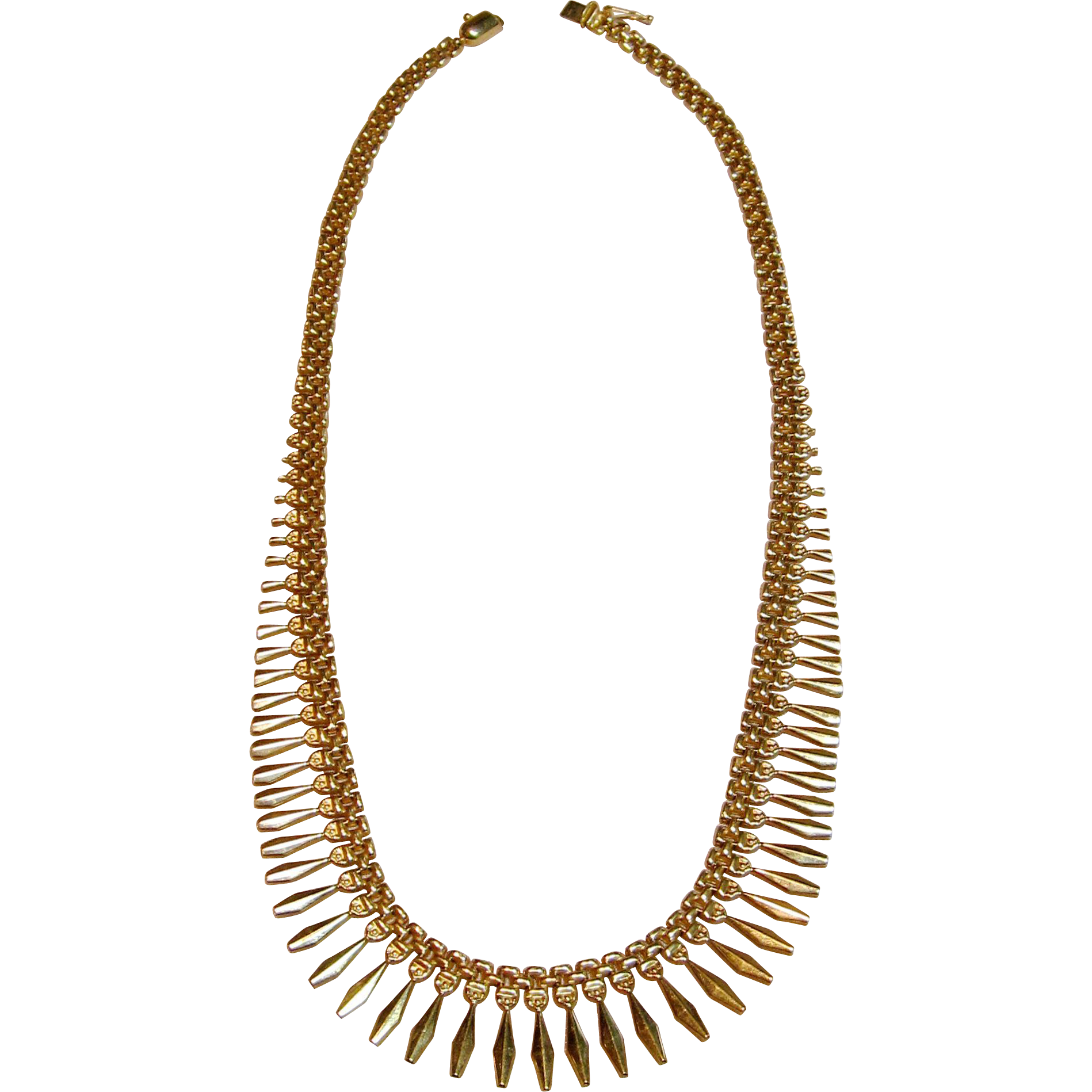 simple elegant 14k yellow gold etruscan style necklace