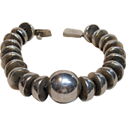 Fabulous & Heavy Ball Sterling Silver Bracelet Taxco
