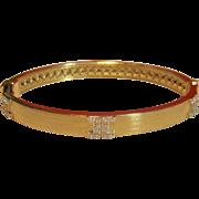 "Elegant Ivanka Trump ""Metropolis Collection"" Diamond Hinged Bangle Bracelet Set in 18K Gold"