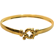 Elegant Omega Style Bracelet in Solid 14K Yellow Gold