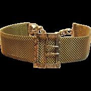 Elegant Antique Mesh Bracelet with Buckle Motif Circa 1890's