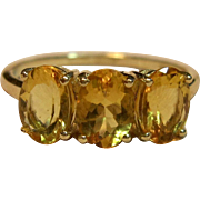 Timeless Citrine Ring in 10K Yellow Gold