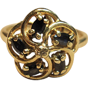 Appealing Pinwheel Flower Like Ring in 14K Yellow Gold