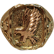 Fantastic Eagle Emblem 12K/10K Black Hills Gold Ring