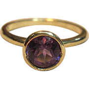 Amazingly Beautiful Amethyst Ring in solid 14K Yellow Gold