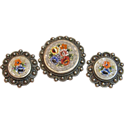 Highly Collectible Micro Mosaic Set Made in Italy Circa-1930's-60's