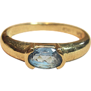 Gorgeous Blue Topaz Ring in Solid 10K Yellow Gold
