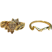 Mellow Diamond Wedding Set In 14K Yellow Gold