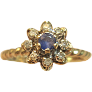 Adorable Blooming Diamond Flower Ring in 10K Yellow Gold