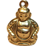 Stunning Vintage Buddha Charm/Pendant in 14K Yellow Gold