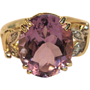 Stunningly Large Amethyst Ring in 10K Yellow Gold