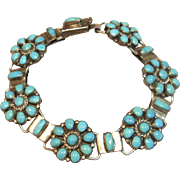 Vintage Zuni Petit Point Link Bracelet in Silver