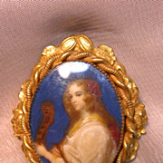 Vintage Portrait Pin by Robert
