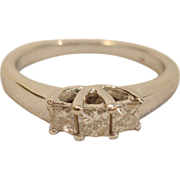 Timeless 3 Diamond Past Present Future Ring in 10K White Gold