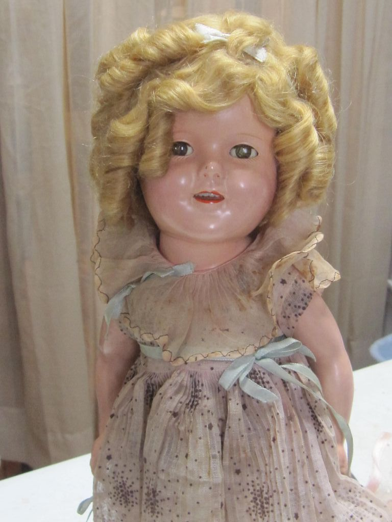 "Authentic 16"" Shirley Temple 1930's Composition Doll"