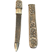 Victorian Sterling Silver Nail File