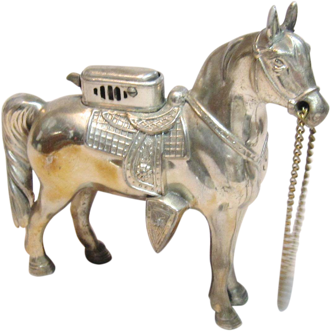 Vintage Rare Horse Table Lighter By Camel Cigarettes Made In Occupied Japan