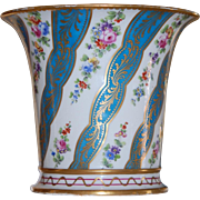 PAIR Lg Georgian French Sevres Cachpotes, Pristine