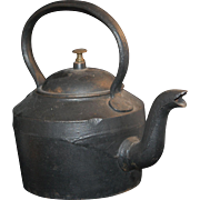 -50%: Old Cast Iron Tea Pot Kettle