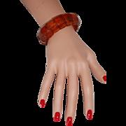 Genuine Honey Amber Bangle Stretch Bracelet