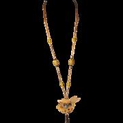 Rare Signed GIP Art Nouveau Long Necklace Ex Cond
