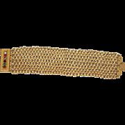 "Georgian Acrostic ""REGARD"" Pinchbeck Mesh Bracelet"