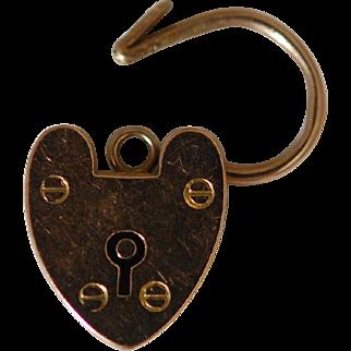 Victorian 15ct Gold Heart Padlock