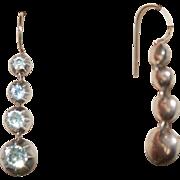Blk Dot Paste Earrings Dome Back 14K Shepherds Hook - Red Tag Sale Item