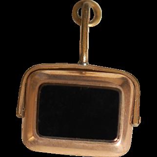 Victorian 10K Onyx Carnelian Spinner Watch Fob