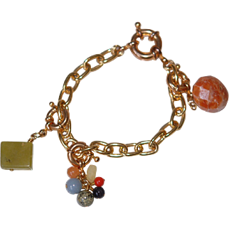 Chain Bracelet w Lg Thumbolt & Fobs or Necklace Extender
