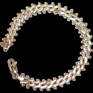 """Vintage 14K Y Gold Bracelet 7"""""""