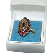 Vintage 10K Garnet Ring sz7.5