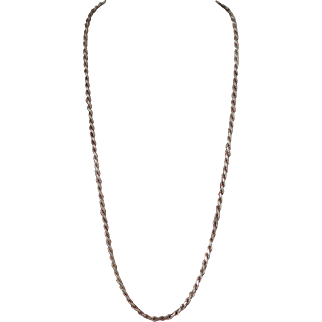 "Sterling Silver Diamond Cut 24"" Rope Chain"