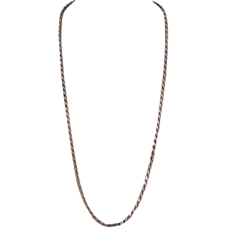 """Sterling Silver Diamond Cut 24"""" Rope Chain"""