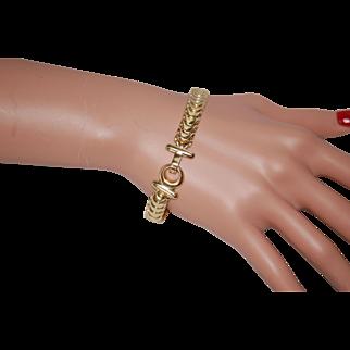 14K Gold Bracelet w Easy Access Clasp