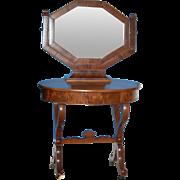 Choice Mahogany Ladies Dressing Table w Trifole Mirror c1830