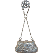 Antiique Sterling Silver Coin Purse 112gms