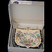 Vintage Pettipoint Purse in Original Box, Pristine