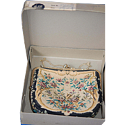 Vintage Pettipoint Purse in Original Box, Pristine