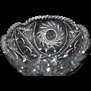 Sparkling American Brilliant Cut Crystal Bowl Beautiful