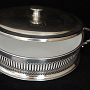 Limoges France & Silver Server w Lid, Vintage, Nice