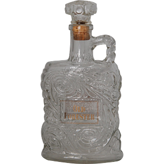 c1950 Old Forester Glass Whiskey Bottle Decanter w Cork Top