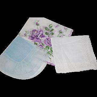 Vintage 3 Hanki Hnadkerchief Lot