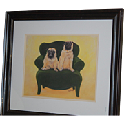 Framed Pug Picture