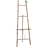 Antique Bamboo Tall Easel